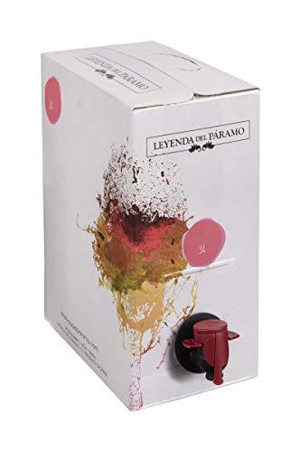 Bag in Box 3L Vino Blanco Recomendado - Leyenda del Páramo - (Equivalente a 4 Botellas de 750 ml) - Caja de vino Blanco - Con grifo para servirlo cómodamente.