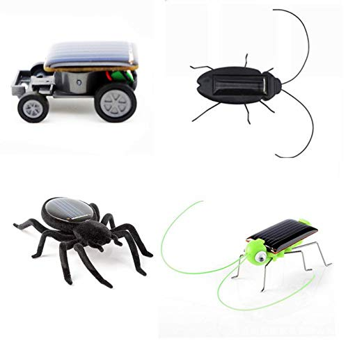 CreazyBee Educational Solar Powered Spider Robot Car Grasshopper Cockroach Toy Solar Powered Toy Gadget Gift (Solar Cockroach)
