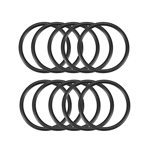 10PCS 42mm Durchmesser 3mm dicken Gummi versiegelt Oil Seal Dichtung O Ringe schwarz de