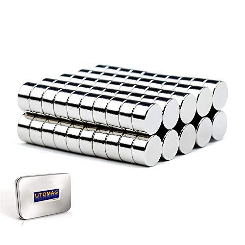 Imanes Neodimio, 6 x 3 mm Imán para Frigorífico Puerta de Disco, Imanes de Nevera para Pizarra DIY Manualidades Pasatiempos Oficina Multiusos (50 Piezas)