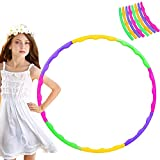 QOSE Hula Hoop - Pneumatico per bambini, 8 sezioni, colore bambini, per fitness, hula hoop e ginnastica, smontabile, adatto per interni ed esterni, per allenamento/sport/giochi/fitness