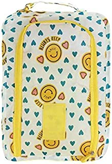 TT WARE Waterproof Travel Tote Shoes Storage Bag Cloths Zip Case Cover Organizer-Yellow