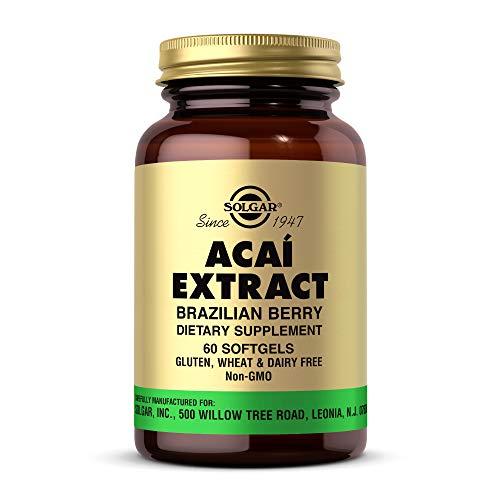 Solgar Acai Extract Softgels, Brazilian Berry, 60 Count