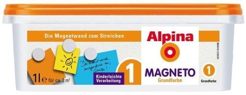 Alpina Magneto Grundfarbe 1 L. - Grundanstrich für magnetische Farbflächen, 25,99 €/L.