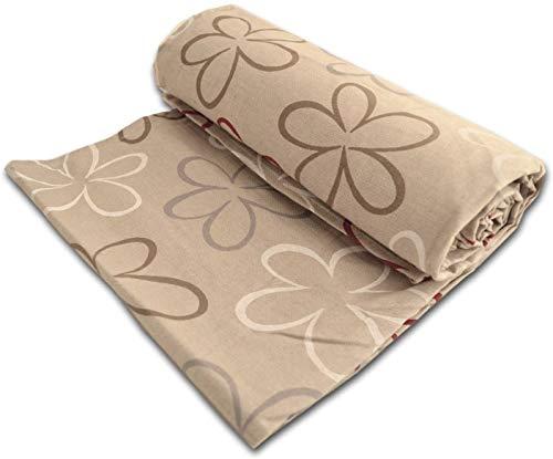 L'EMPORIO_CASA - Funda para sofá con diseño de flores, tela robusta gruesa de algodón de Panamá, sábana cubretodo de algodón, fabricada en Italia (160 x 280 cm)