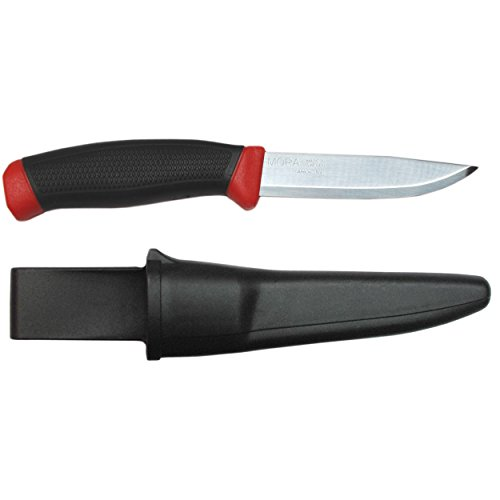 Morakniv Clipper 840 Fixed Blade Outdoor Knife with Carbon Steel Blade, 3.9-Inch , black