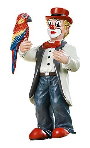 Gildeclown Zwei Bunte Vögel - Deko Figur für Sammler - Handarbeit H 14 cm