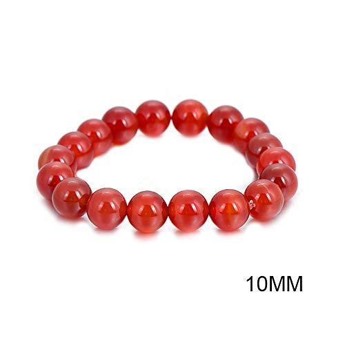 WHFDRHSZ Braccialetto Braccialetto Moda Perline di Corallo Rosso bracciali in Pietra Naturale Preghiera Perline Braccialetto Buddha per Le Donne e Gli Uomini Pulseras Masculina