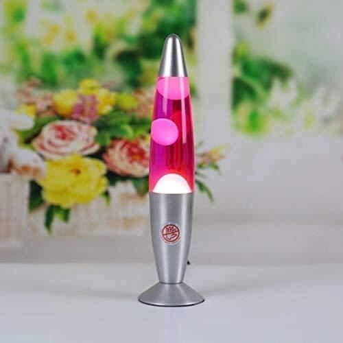 Quallen Lava Lampen, Vulkanart Lava Lampe für Kinder, Schlafzimmerstimmung Light Nightlight Blend Glanz Glühlampe Retro Lava Wachslampe Beleuchtungslampen (Color : Red)