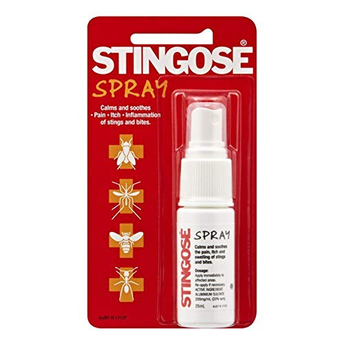 Stingose Spray – Fast Relief of Pain, Itch and Swelling from Insect Bug Bites and Stings. #1 Treatment in Australia. 25 ml.