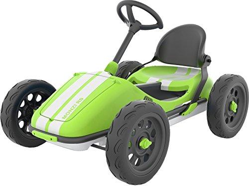 Chillafish Monzi RS, Pedal Go-Kart für Kinder 3-7 Jahre, zusammenklappbar für Platzbesparung, verstellbarer Sitz ohne Werkzeug, pannenfreie Gummihautreifen, Wandhalterung für einfache Lagerung enthalt