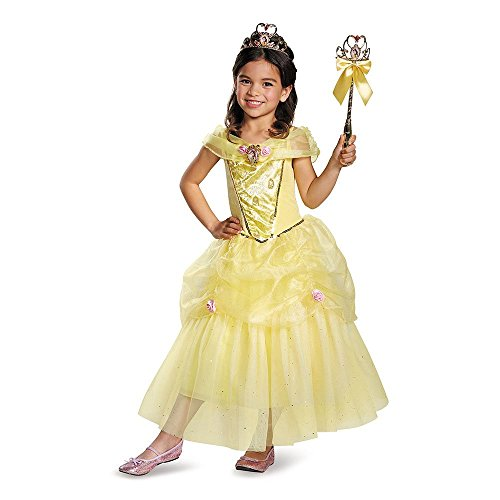Disney Princess Belle Beauty & the Beast Deluxe Girls' Costume