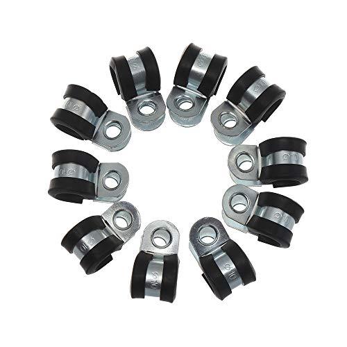 Abrazaderas 10Pcs cableado abrazadera de manguera de goma P alineado clips de...