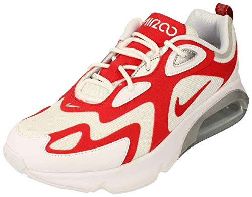 Nike Air Max 200 Laufschuhe für Herren, - Farbe Rot Weiß Geschlecht 1 - Größe: 45.5 EU