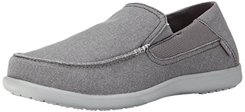crocs Men's Santa Cruz 2 Luxe M Slip-On Loafer, Charcoal/Light Grey, 10 D(M) US