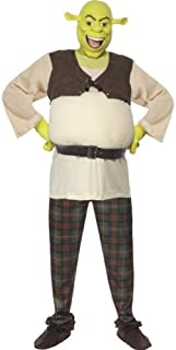 Smiffys Men's Shrek Costume, Padded Top, Trousers & Mask, Shrek, Colour: Multi-coloured, Size: M, 38357