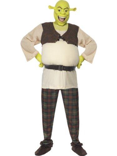 Smiffys Licenciado oficialmente Costume Shrek Vert, avec haut, pantalon, mains et masque