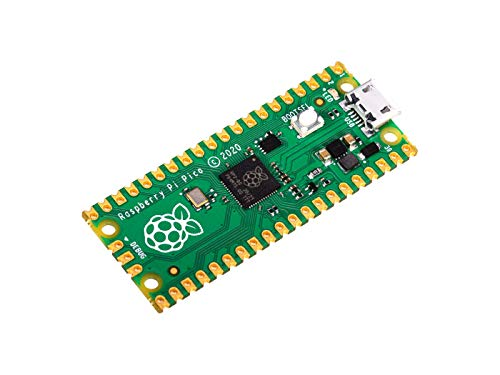 Raspberry Pi Pico, a New Flexible microcontroller Board Based on The Raspberry Pi RP2040, Featured with Dual-core ARM Cortex M0+ Processor, Running up to 133 MHz, Support C/C++/Python