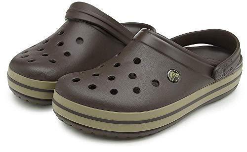 Crocs Unisex-Erwachsene Crocband Clogs, Braun - 11