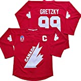 Gretzky #99 Team Canada - Camiseta de hockey sobre hielo para Navidad y verano, color rojo - rojo - XX-Large