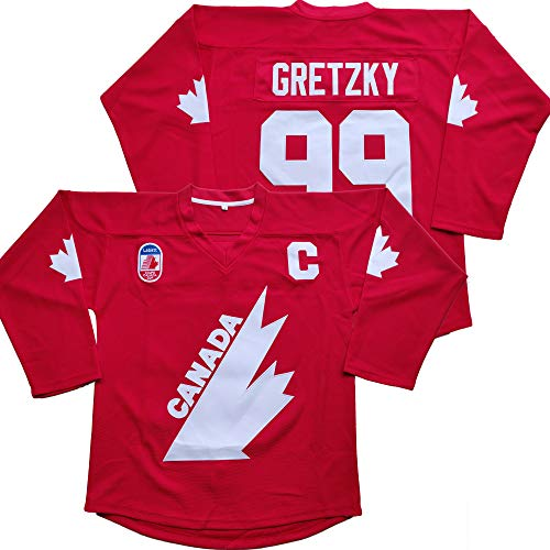 Gretzky #99 Team Canada Ice Hockey Jersey Christmas Summer Stitched Red (Red, Medium)