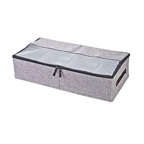 yIFeNG Under Bed Shoes Aufbewahrungsorganisator mit transparentem Oberlicht und verstellbaren Trennwänden mit Reißverschluss