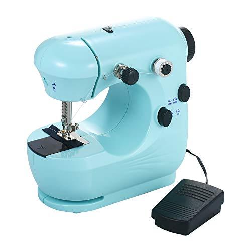 KKmoon Machine ¨¤ Coudre, Mini Machine ¨¤ Coudre Portable, Machine ¨¤ Coudre Domestique, r¨¦glable ¨¤ 2 Vitesses avec Table de Couture