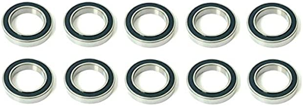 10x 6007 2RS Rubber Sealed Deep Groove Ball Bearings - 35x62x14 mm