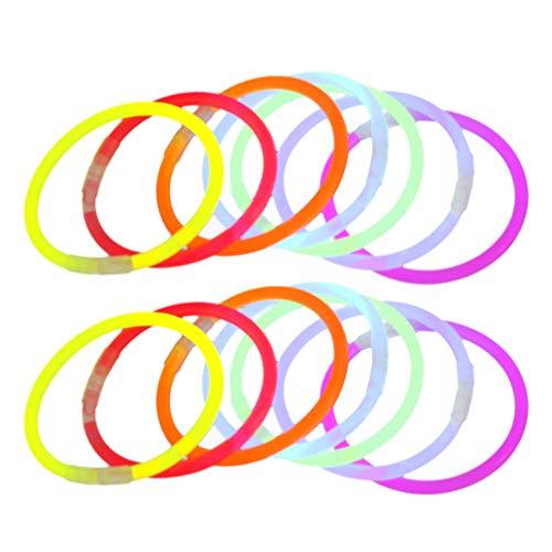 Uonlytech - 50 Pulseras Luminosas LED para la Oscuridad, para Fiestas, Navidad, Regalos de Invitados, conciertos, Juguetes