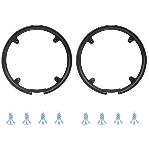 HUAYUE 2 PCS Bike Chain Guard Protector, Bicycle Sprocket Cover Chain Wheel Crankset Guard Protector 42/44T Chainring Guard Plastic Chain Wheel Protector Cover Accessories for Mountain Bike, Black