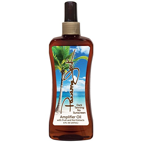 Panama Jack Amplifier Suntan Oil - Contains No Sunscreen Protection (0 SPF), Light Formula with Exotic Oils, Fruit and Nut Extracts, Tropical Fragrance, 8 FL OZ (Pack of 1)