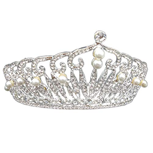 Lurrose Fashion Exquisite Perle Tiara coronas boda novia Princess Crowns joyas novia...