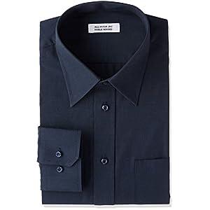 [アトリエサンロクゴ] ワイシャツ 長袖 形態安定 ビジネス カジュアル 制服 ユニフォーム メンズ y9-7-9-1 ネイビー 日本4L(日本サイズ4L相当)