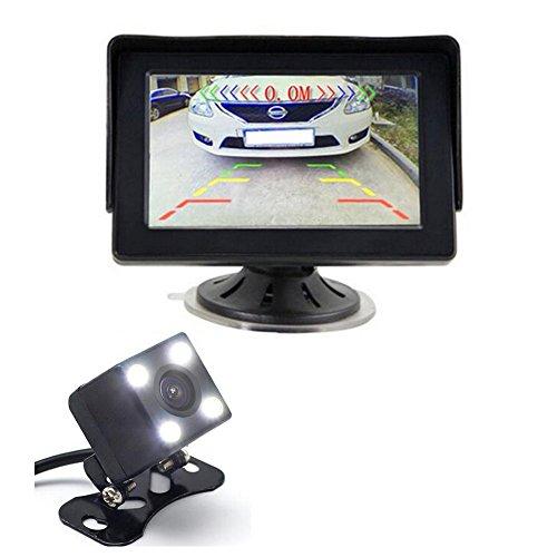 GOFORJUMP 3in1 système d'aide de Moniteur de stationnement évident de Voiture de 4,3 Pouces. Capteur de stationnement vidéo + Caméra de recul + Moniteur de Parking 4.3\