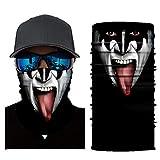 Feitb Dunkler Clown Muster Maske Hals Schlauch Ski Face Shields Schal Radfahren Motorrad Gesichtsmaske Sturmhaube Halloween Party(Angeln, Laufen, Radfahren, Motorrad, Walken, Reiten etc (E)