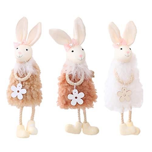 Barnleksak 3st Påskpynt Bunny Hängen Hushållsprydnad Barn Party Leksaker