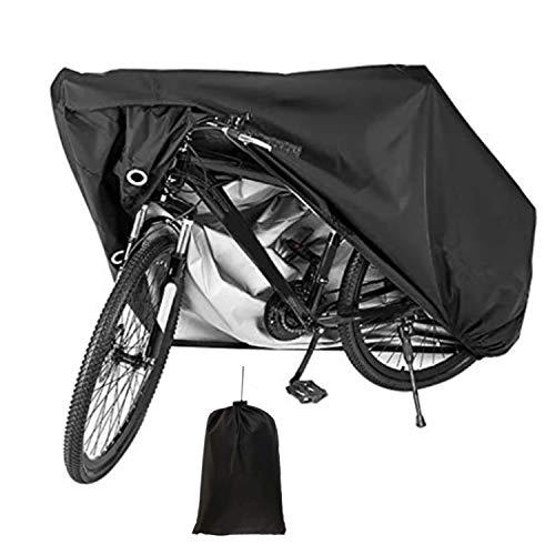 Copertura Bicicletta, Tessuto Oxford 210D Telo Copri Bicicletta Impermeabile Può Essere Utilizzato per Mountain Bike Scooter Bici da Strada, Antipolvere, Antipioggia, Antineve, Protezione UV
