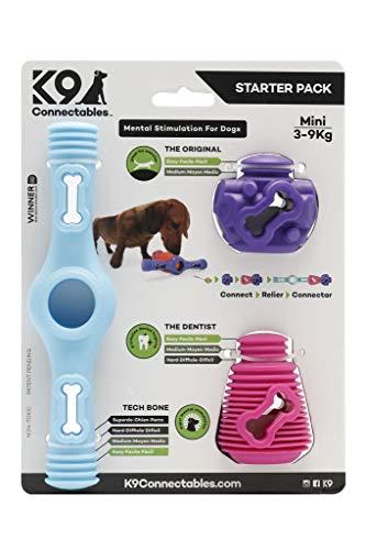 K9 Connectables Mini Starter Pack Blue, Purple & Pink, 1000 g