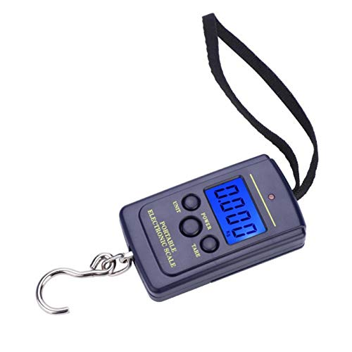 Qukaim Digit Fishing Scale-Weiheng WH-A01L Portable Plastic Electric Digital Hanging Scale with Hook Tool Fishing Luggage