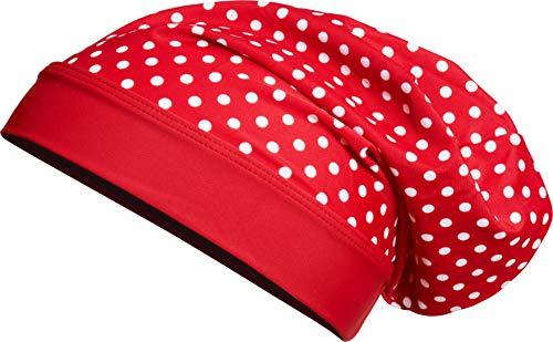 Playshoes Mädchen UV-Schutz Beanie Punkte Mütze, Rot (Rot 8), Large (Herstellergröße: 55cm)