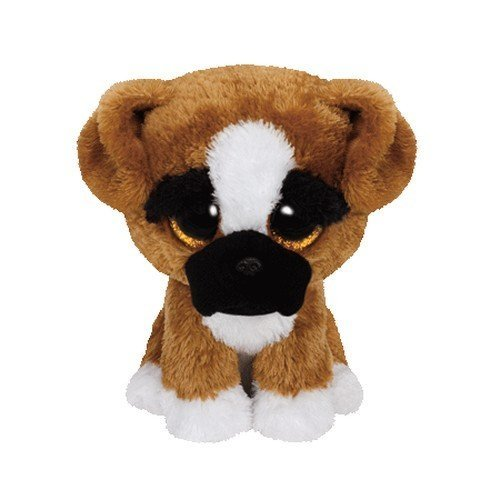 Carletto Ty 37053 Ty 37053-Brutus-Boxer Hund, Glitzeraugen, Beanie Boo's, Large 24 cm