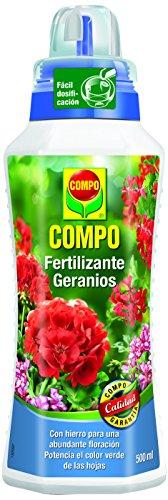 Compo geranios y Otras Plantas en Flor de balcón o terraza, Fertilizante líquido, 500 ml, 23x7x6.3 cm, 1433112011