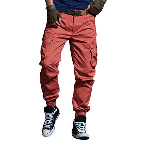 N/ A Hombres Resistentes al Desgaste Cargo Combat Builders Warehouse Workwear Trouse Pantalones Militares al Aire Libre para Acampar Senderismo Caminar