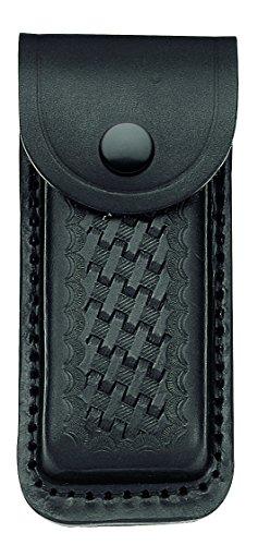 Herbertz Lederetui, schwarz, für Heftlänge 13 cm Messer, grau, M