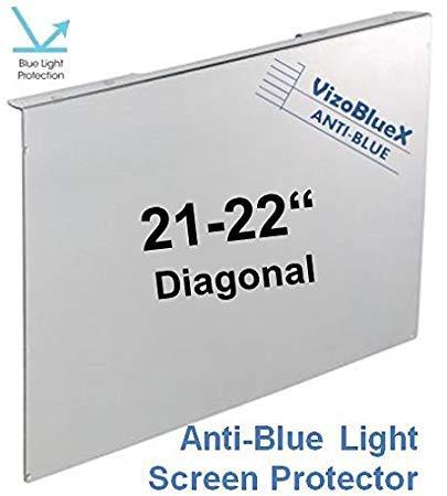 21 - 22 Zoll VizoBlueX Blaulichtfilter für Computermonitor.Anti-Blaulicht Computer Monitor Bildschirmschutz-Panel (50 X 31 cm). Für TV, LCD Fernseher und PC,Mac.Das ist nicht Schutzfolie 21.5
