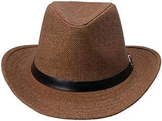 621e0914 A hut Kimisohand Caliente 6 Colores Verano Hombres Sombrero de Paja Sombrero  de Vaquero Moda de