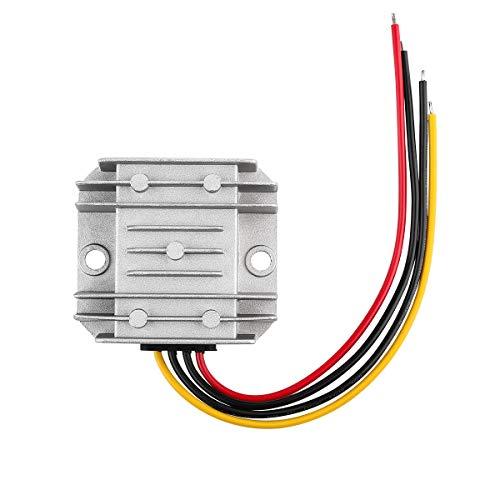 SUPERNIGHT Transformer 24V (DC 8V~40V) Wandler auf 12V Spannungswandler 6A 72W Voltage Reducer Converter für Auto Motor, Solar System etc.