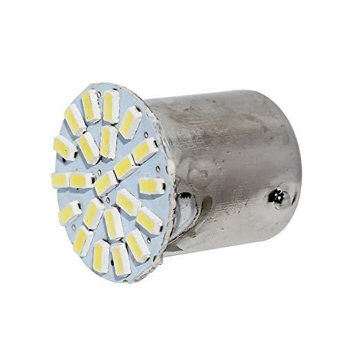 Luces $ luz 1156 22 LED 3014 de P21W de BA15S Coche Trasero Aparcamiento Luces de estacionamiento Motocicleta Freno Auto Bombilla DC 12V Blanco (Emitting Color : White)
