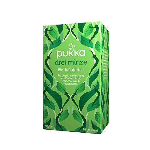 Pukka Bio-Tee Drei Minze 80 Teebeutel, 4er Pack (4 x 20 beutel)