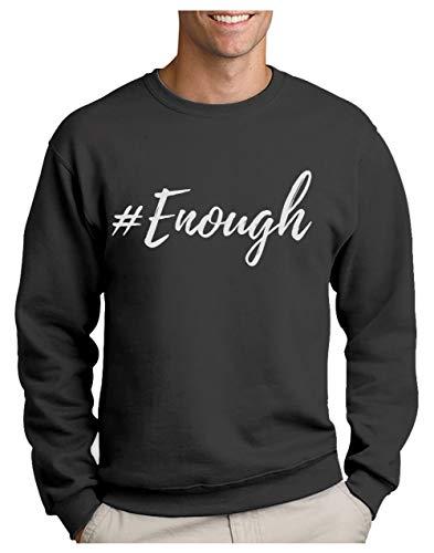 #Enough Protestation Rebelle Street Style Fashion Sweatshirt Homme X-Large Grus Foncé